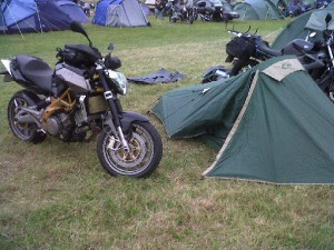 Bike & tent